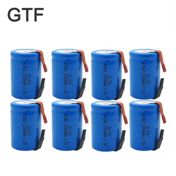 1-20pcs 4/5 Sub C 2200mAh 1.2V Ni-Cd SC Sub C Rechargeable Battery with Welding Tab For Shaves Emergency Lighting Radio Batteria image