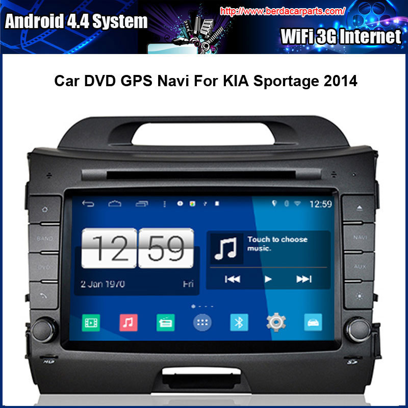 Android 4.4 1024*600 Capacitive Screen Car DVD For KIA Sportage 2014 With GPS Navi Bluetooth Radio (No Canbus function)