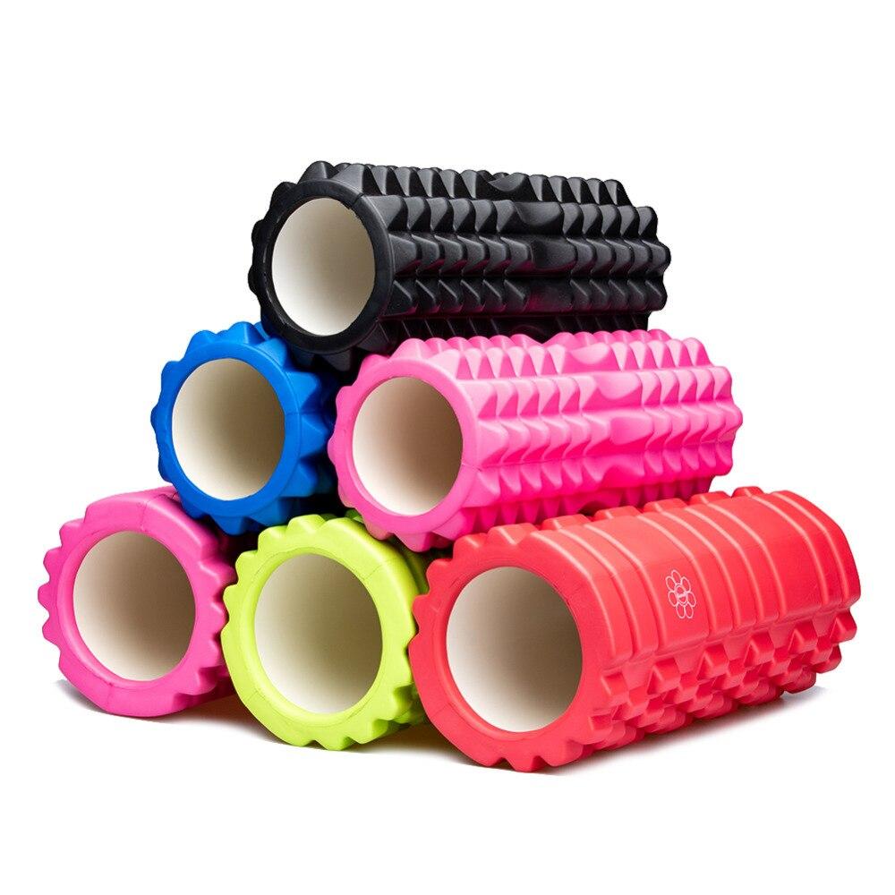Yoga Foam Roller Training Colume Rollor Bricks Fitness Exercise Pilates Body Building Back Massager 33*14CM