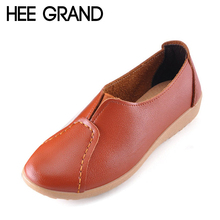 HEE GRAND Soft Women Loafers Slip On Spring Flats Shoes Woman Ladies Moccasin Spring Summer Style Women Shoes Size 35-40 XWD2809