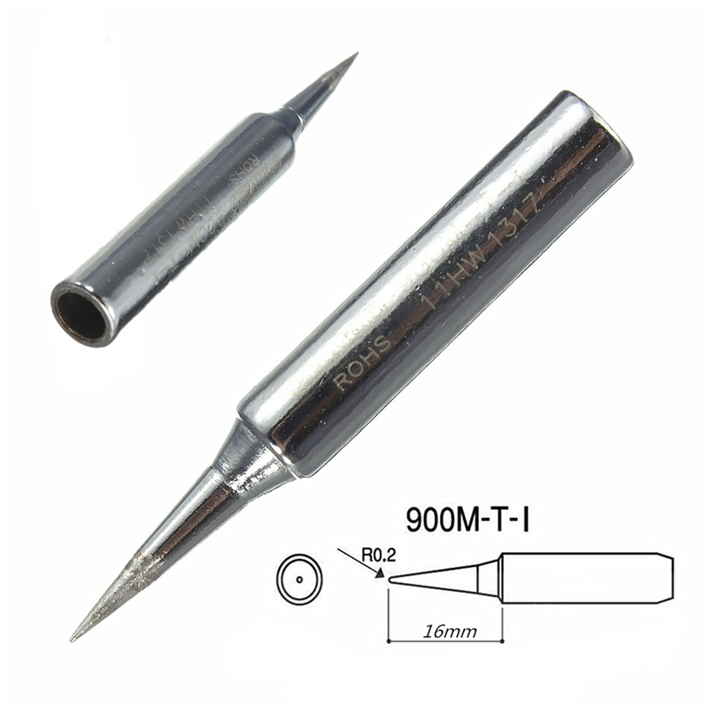 1PC Lead-Free Replacement Soldering Tools Solder Iron Tips 900m-T-I ROHS Certificated Heat-resistant Copper = For Hakko 936 937