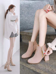 Ботинки martin, новинка 2018 года, зимние женские ботинки на Высоком толстом каблуке, ботинки из матовой кожи