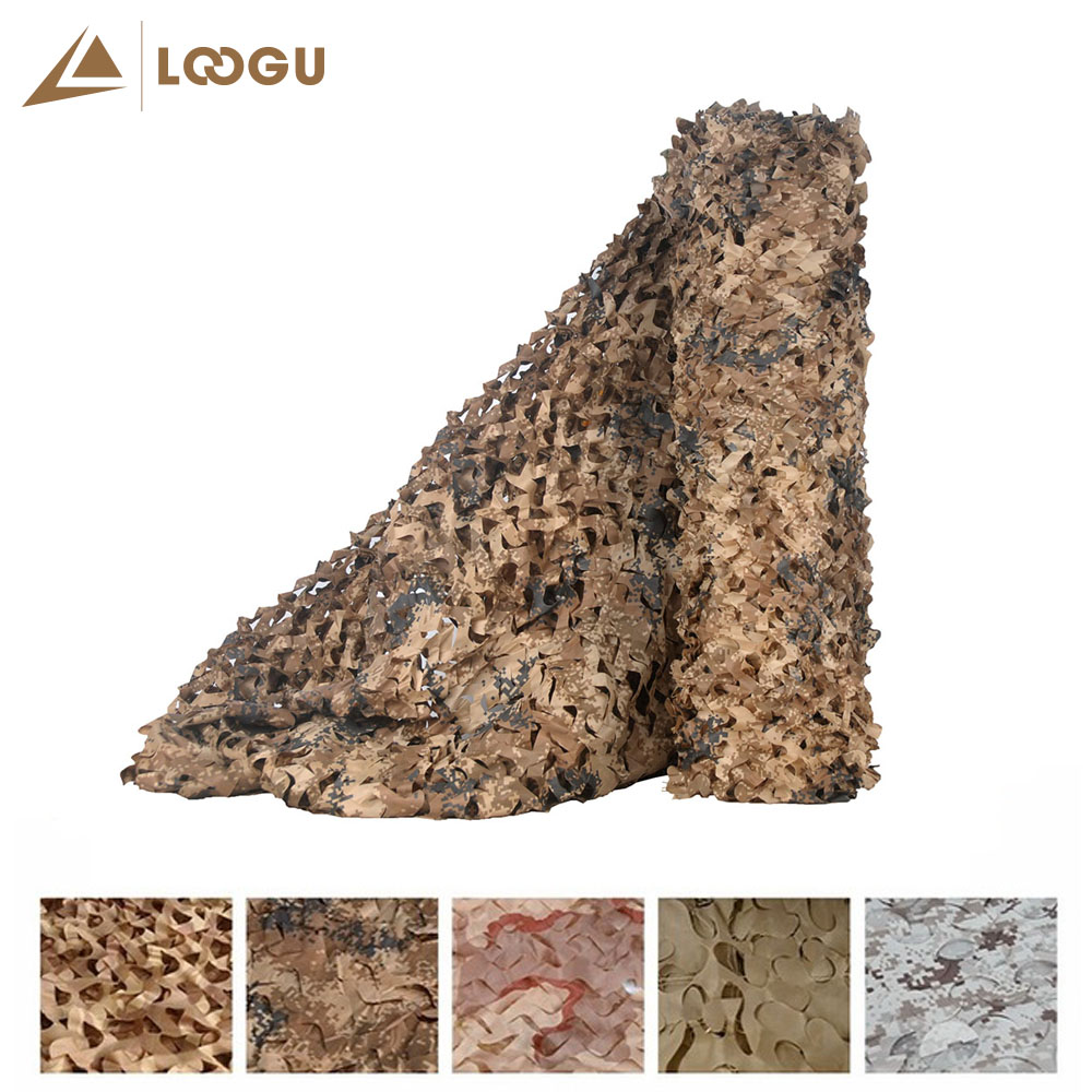 LOOGU E 1.5mx6m Car Covering Tent Woodland Military Camouflage Hunting Netting Without Edge Binding And Mesh Net Sun Shelter loogu em 3m 4m blue camo netting sea ocean camouflage netting ship covering tent decoration camouflage net