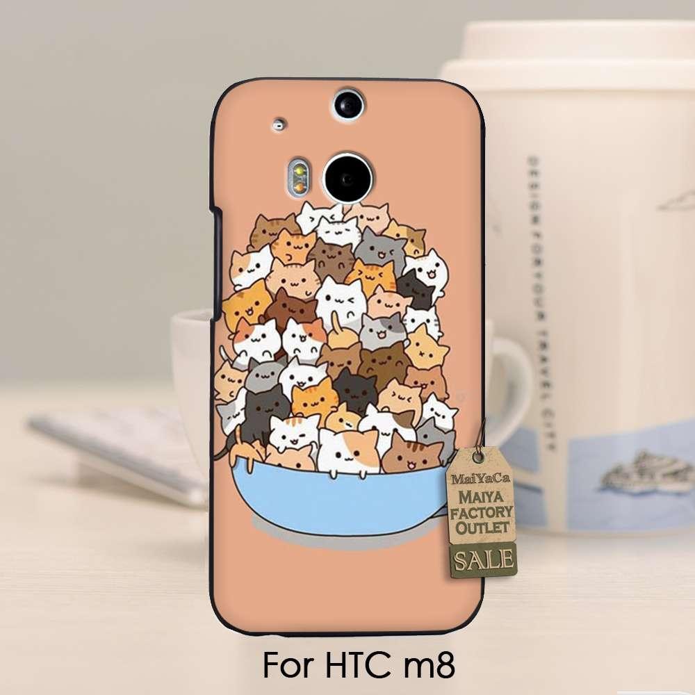 Patrón PC Accesorios Del Teléfono caso Cove Para HTC Uno m8 Porque Los Gatos Lin