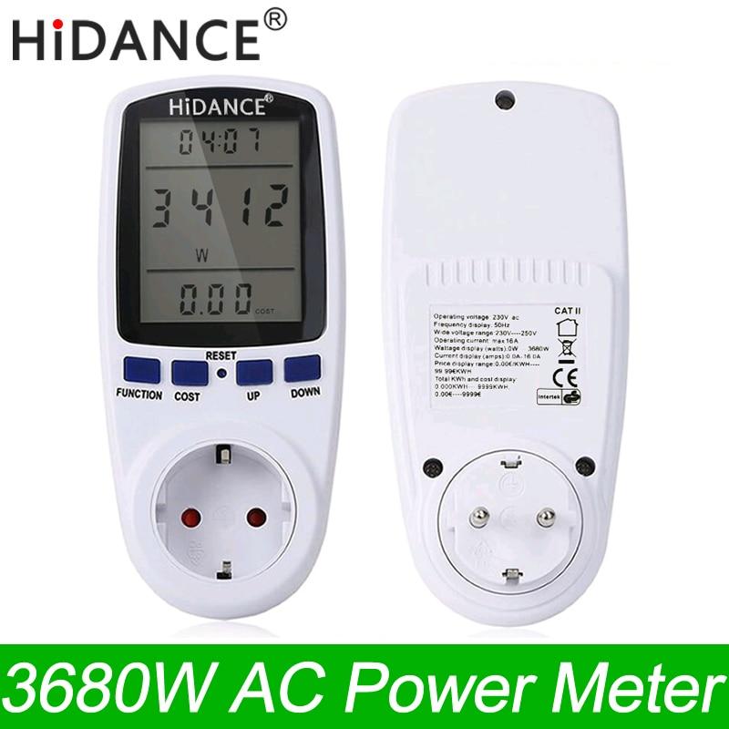 HiDANCE AC Power Meters 220v digital wattmeter eu energy meter watt ...