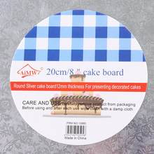 8/10/12/14/16 inch Thick Round Cake Boards Non-Stick Mousse Paper Circle Base Cardboard Paper Mousse Cupcake For Cake Tray Pad(China)