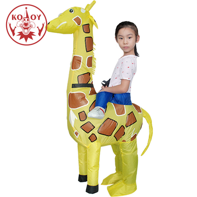 Halloween Costume For Kids Inflatable Giraffe Costumes Boys Kids Children Walking Animal Fancy Dresses Blow Up Purim Cosplay