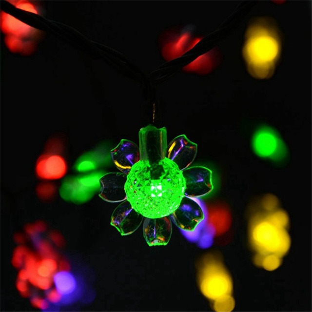 21ft 50 led original sunflower solar fairy string christmas lights decorative lighting for garden wedding party