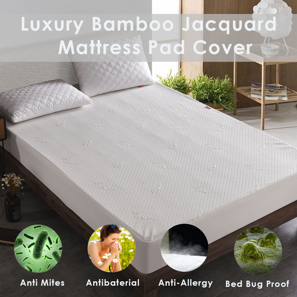 Pad Mattress Bed Cover Luxury Protector Ultra Soft Quilted Deep Pocket Fitted