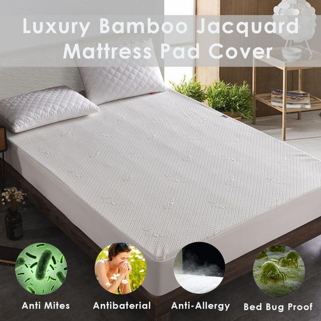Lfh Bamboo Waterproof Mattress Pad Cover Deep Pocket Mattress Cover