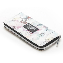 Wallets for Women Alice in Wonderland Wallet Fashion Zip Around  Designer Brand Purse Lady Party purses