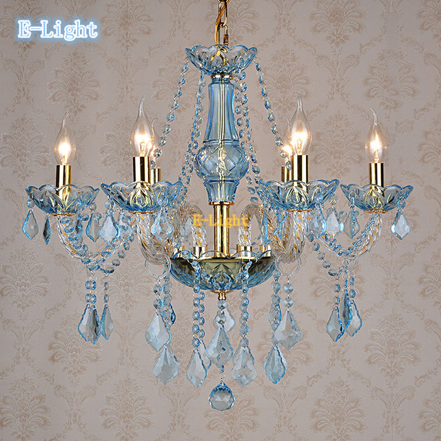 Whitegoldblueamber crystal chandelier light led e14 candle whitegoldblueamber crystal chandelier light led e14 candle crystal pendant lamp aloadofball Image collections