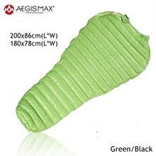 Aegismaxเบายาวแม่ถุงนอนF Leabagสีขาวห่านลงถุงนอนกระสอบกลางแจ้งตั้งแคมป์เดินป่านอนถุง