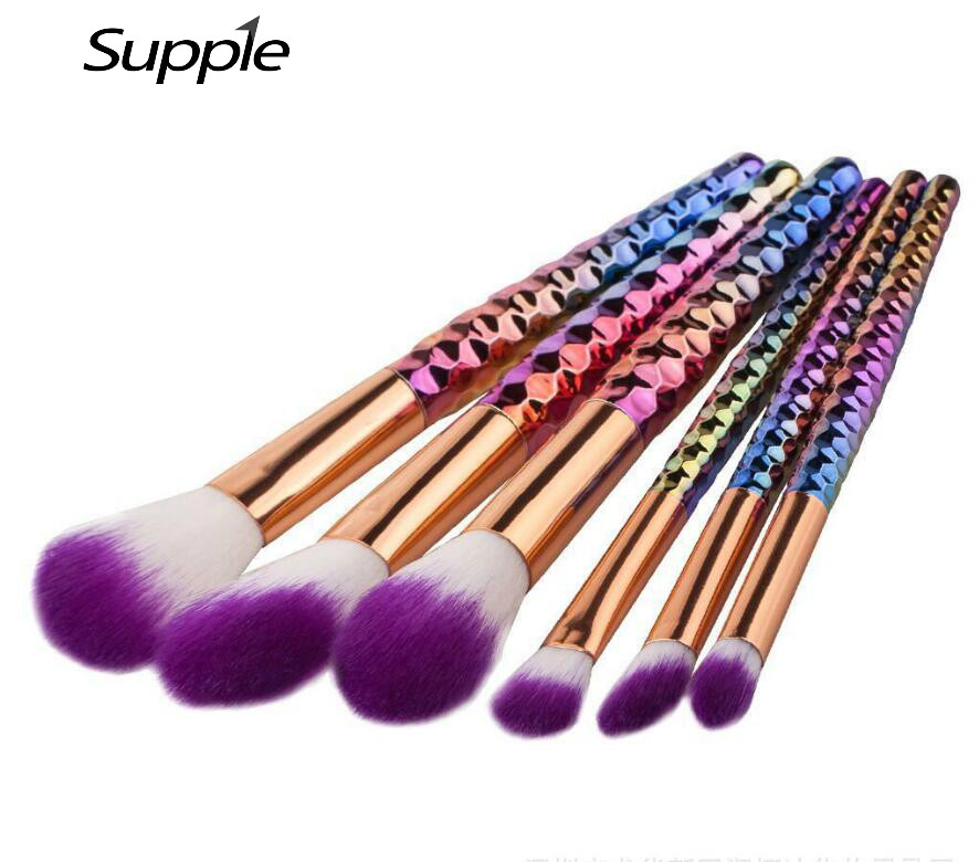 6/7pcs Unicorn Makeup Brushes Set Pincel Maquiagem Crystal Contour Base Foundation Powder Blush Brush Cosmetics Make Up Brushes 12pcs makeup brushes professional make up brush set pincel maquiagem for beauty blush contour foundation cosmetics