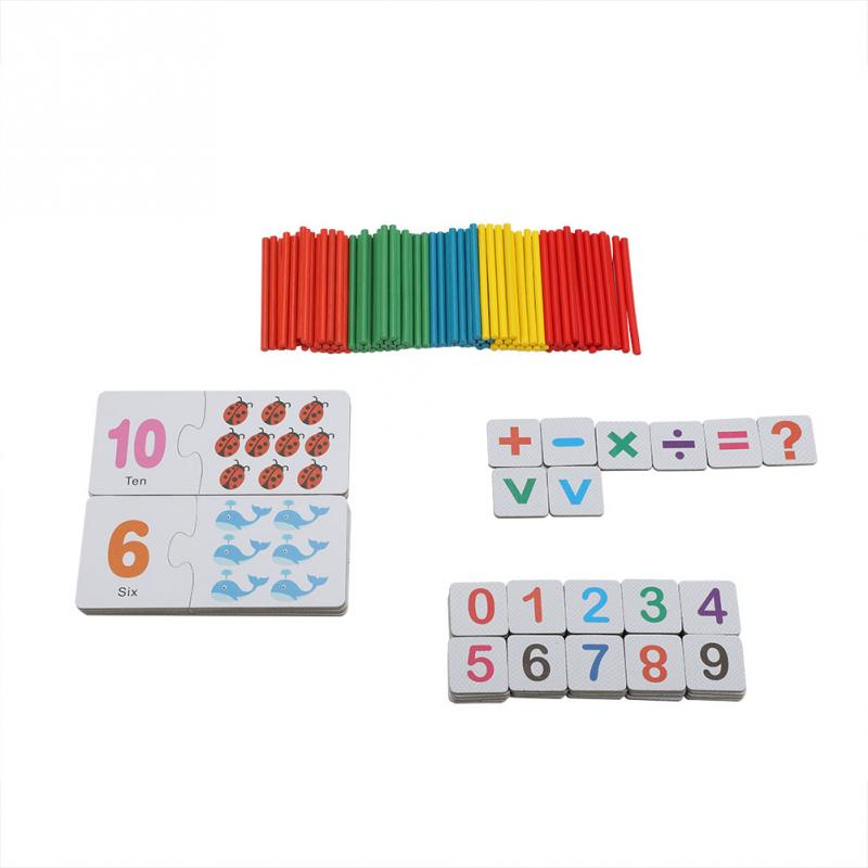 Baby Educational Puzzle Cards Children Pre-School Learning Math Teaching Toy Set Magnetic digital cards game gift for children