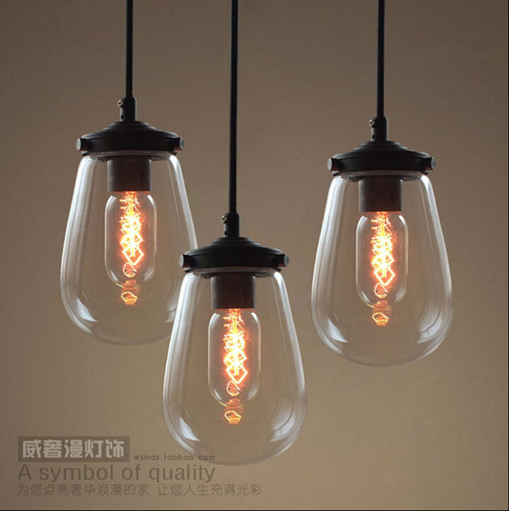 American vintage style pendant lights glass lampshade kitchen american vintage style pendant lights glass lampshade kitchen bedroom pendant light coffee bar lamp fixtures 110 240v new year in pendant lights from lights aloadofball Choice Image