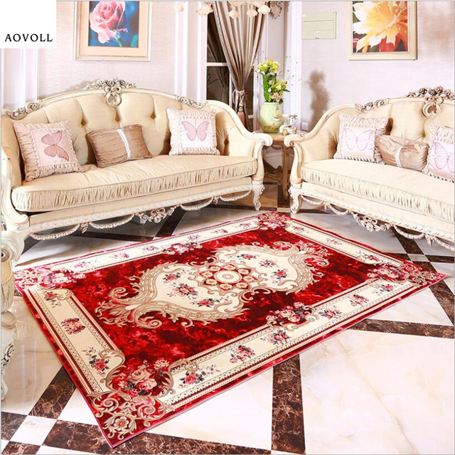 AOVOLL European Royal Style Carpets For Living Room Bedroom Kid Room Rugs  Home Carpet Floor Door Mat Delicate Classical Area Rug