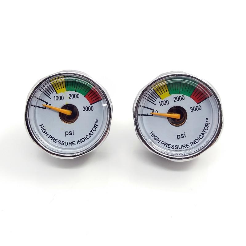 Paintball PCP Air Pressure Gauge 2pcs 3000psi Mini Micro Manometre Manometer 1/8npt