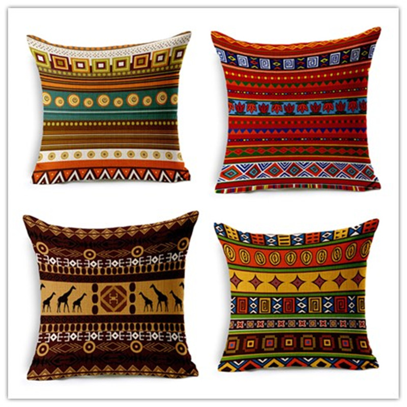 Newest Fashion Bohemian Style Decorative Cushions Geometric Throw Pillows Car Home Decor Cushion Decor Cojines Almofadas