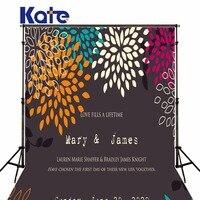 Kate aangepaste achtergrond fotografie creatieve bloemen kleurverandering woorden achtergrond fotografia props schieten