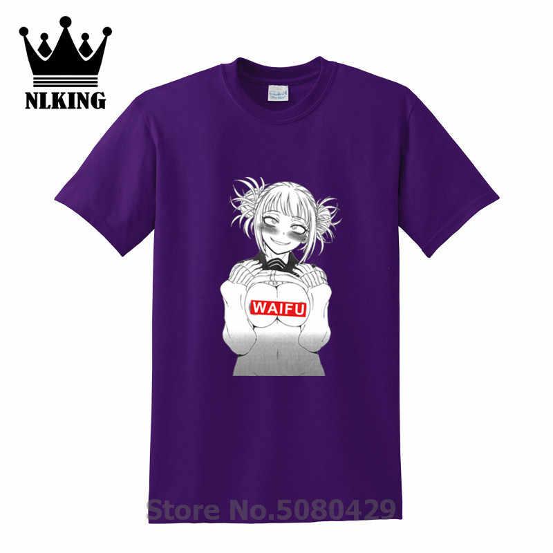 Himiko Toga Boobs Waifu Anime Porno Hub Putih T-shirt Pria Jepang Gaya Tshirt Men Ahegao Harajuku Kaos Keren crop Top