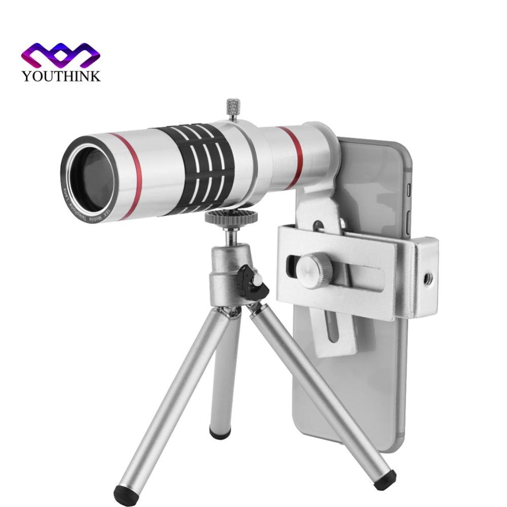 1Pcs 18X Zoom Portable Mobile Phone Lens Universal Travel