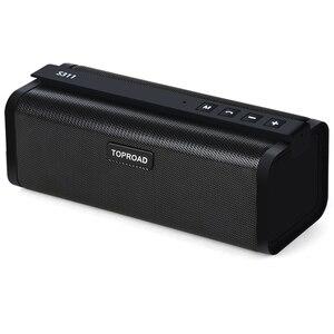 Image 1 - TOPROAD ポータブル 10 ワット Bluetooth スピーカー Hifi ワイヤレスステレオビッグパワーサウンドボックスサブウーファー列スピーカーサポート TF FM ラジオ AUX