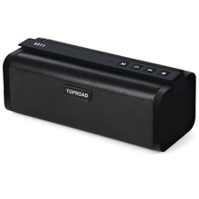 TOPROAD Portable 10W Bluetooth Speaker HIFI Wireless Stereo Big Power Soundbox Subwoofer Column Speakers Support TF FM Radio AUX