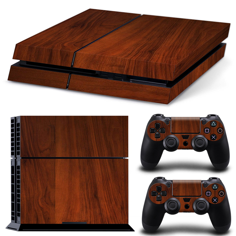 Wooden Wood Texture Skin Ps4 Pro Limited Edition Vinyl Glossy Decal