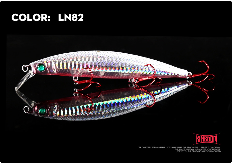 Kingdom Fishing lures 10g90mm 23.5g128mm Floating Minnow and Pencil Switchable Lilps artificial baits for sea bass wobblers 5358 (17)