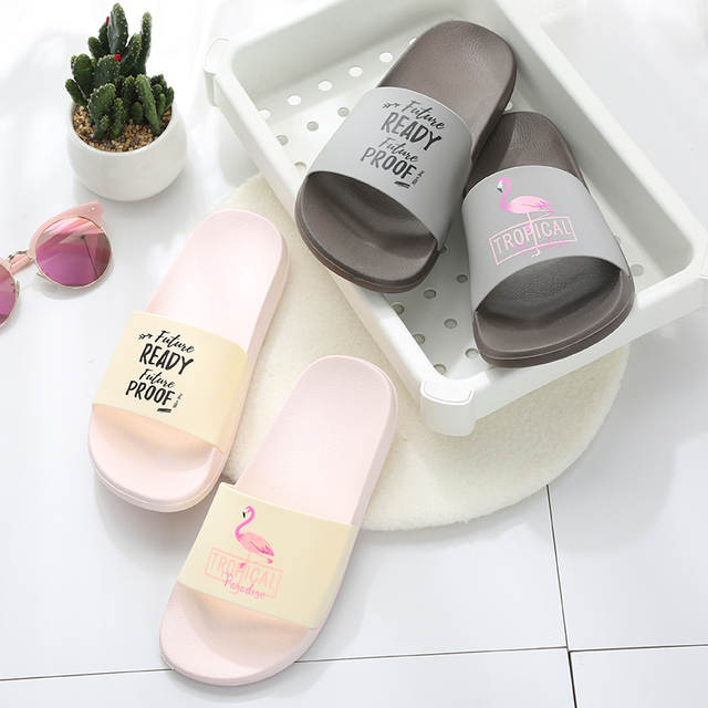 c525d9c9fbd88b placeholder Flamingo Slippers Women Summer Beach Slides Ladies 2018 Large  Size 45 Casual Flats Sweet Flip Flops