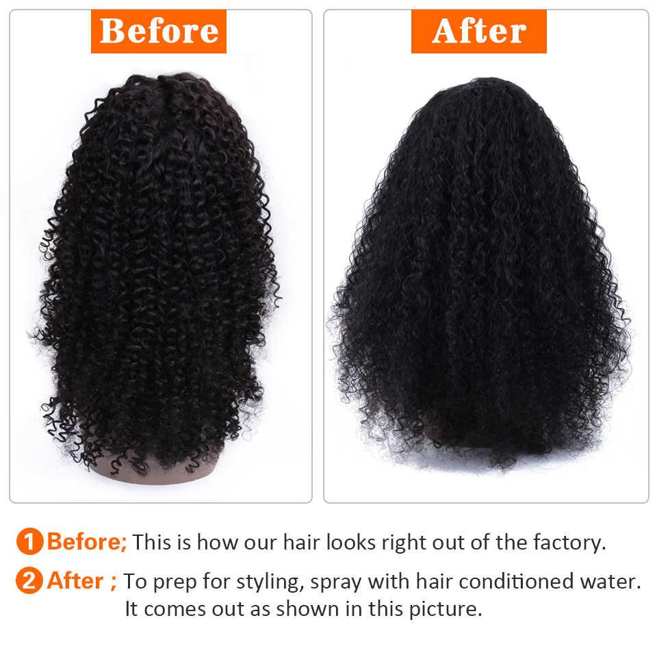 Soph Queen rizado encaje Frontal pelucas de cabello humano para mujer negra Remy peruano 13*4 Peluca de cabello humano pre desplumado con pelo de bebé