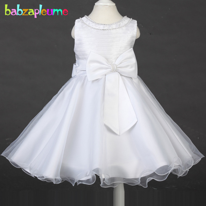 2-8Years/Summer Style Kids Clothes For Baby Girls Wedding Dresses Infant Party Princess Lace Tutu Dress Children Clothing BC1427