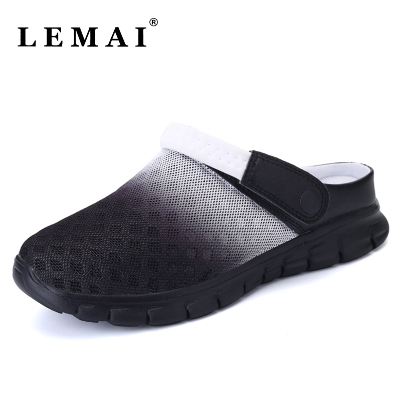 New Unisex Men and Women Summer Beach Outdoor Sandals Lady Breathable Mesh Flats Slippers Light Outdoor Slip On Slippers