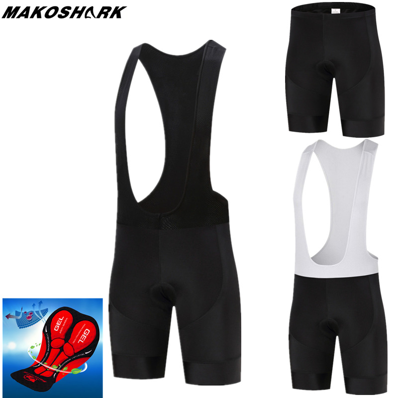 MAKOSHARK New 5D Padded Cycling Shorts Man /Women Pro Shockproof MTB Bicycle Shorts Summer Road Bike Shorts Black Cycling Tights