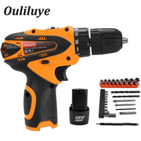 Electric Screwdriver 12V Cordless Impact Drill Driver Mini Wireless Power Driver Rechargeable Lithium Ion Battery 10mm 2 Speed