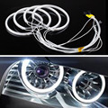 4 Pcs CCFL Angel Eyes LED Daytime Running Luz DRL Carro 6000 K Cool White Farol Para BMW E46, E36, E39