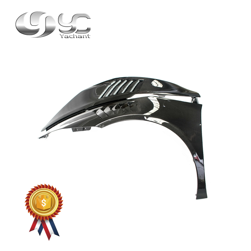 Guardabarros de fibra de carbono seco estilo coche para 14-19 Huracan LP610-4 y LP580-2 Coupe Spyder YC diseño guardabarros delantero con ventilación de estilo