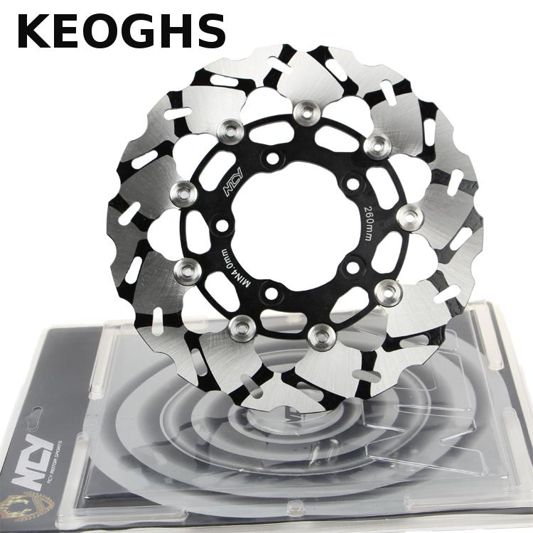 KEOGHS Motorcycle Floating Brake Disc/brake Rotor 260mm Diameter Stainless Steel Cnc Aluminum For Yamaha Scooter Bws Cygnus keoghs motorcycle hydraulic brake system 4 piston 100mm hf2 brake caliper 260mm brake disc for yamaha scooter cygnus x modify