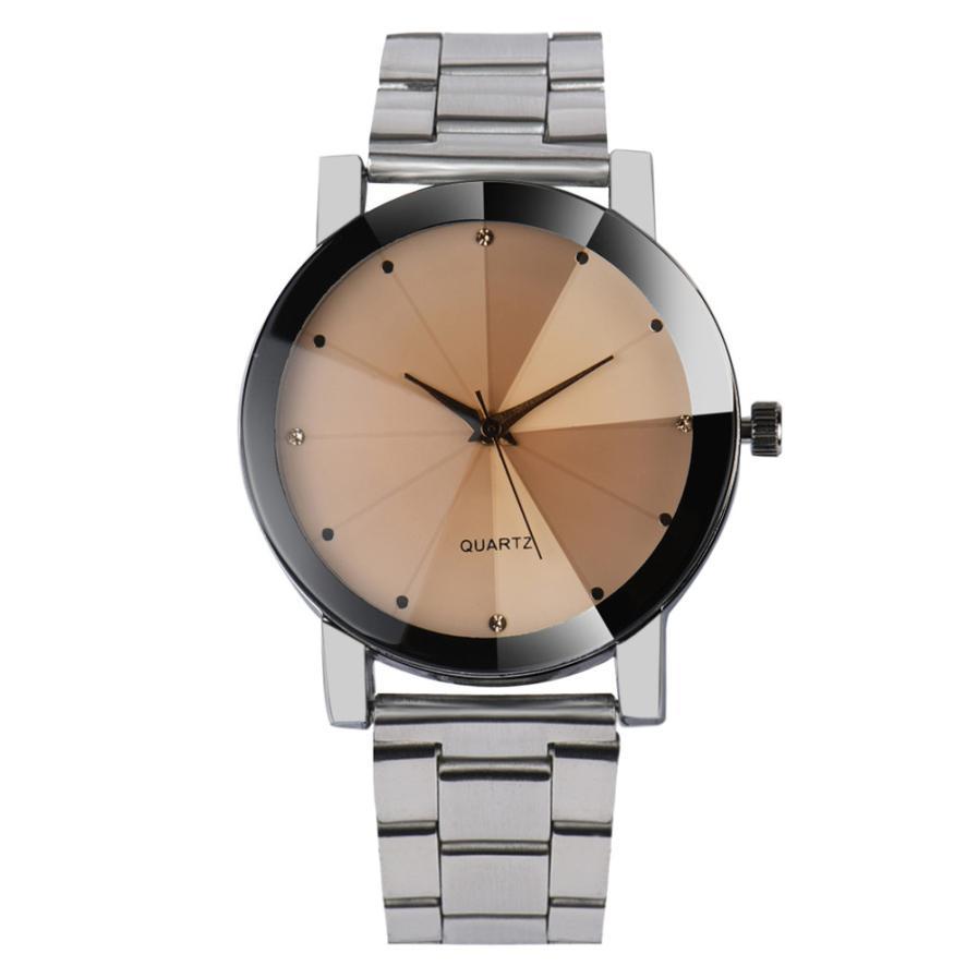 Relojes mujer 2018 Fashion Women Crystal Stainless Steel Analog Quartz Wrist Watch Bracelet luxury Simple Unique Wrist Watches