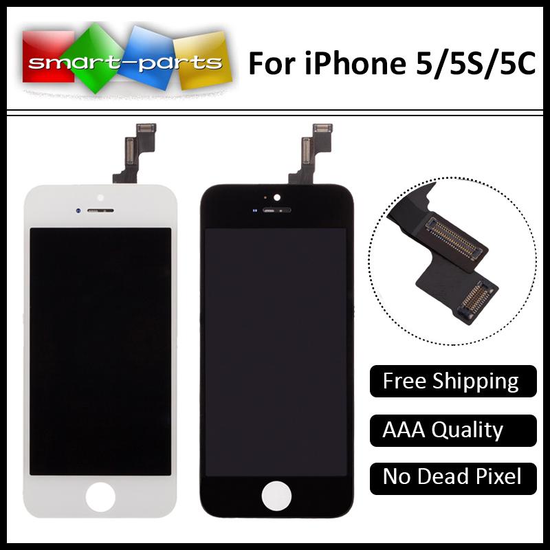Prix pour 10 PCS AAA Qualité Pas de Dead Pixel LCD Écran D'affichage Pour Apple IPHONE 5G 5S 5C Avec Écran Tactile Digitizer Assemblée Livraison Rapide