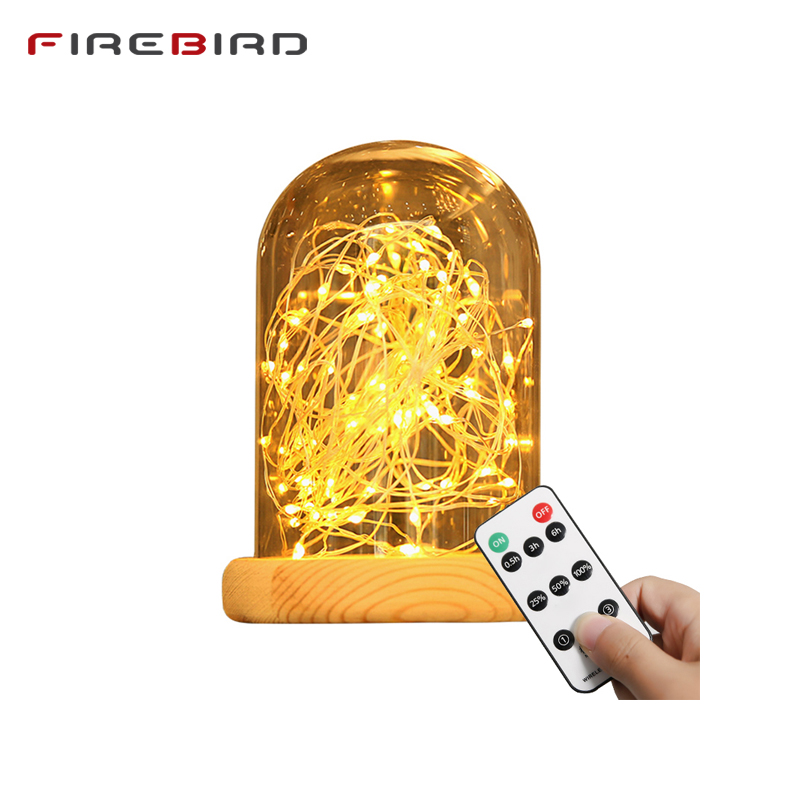 цена LED Table Lamps Creative Desk Lights Indoor Holiday Lighting Remote Control Dimming Distinctive Gift Starry Sky LED String TDL01