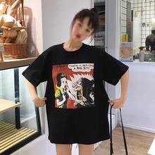 T Shirt Women  New Printing Summer Personality shirt Short-sleeved Womens T-shirt Loose Korean tshirt