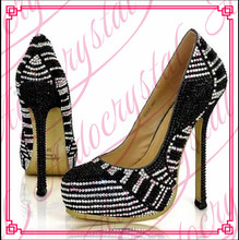 Aidocrystal Free shipping 2016 new spring autumn casual high-heeled shoes sexy thin heels platform pumps Black and White