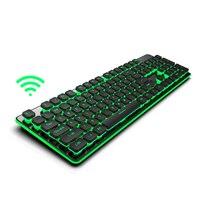 Gaming Teclado Sem Fio 2.4g Mini Teclado Retroiluminado de Carregamento Preto/branco para Laptop PC Desktop Bateria De Lítio Recarregável