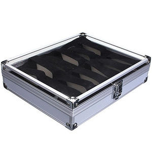 6/12 Grid Slots Jewelry Wrist Watches Holder Display Storage Box Aluminium Case