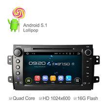 "8 ""Android 5.1 Coches Reproductor de DVD Para Suzuki SX4 Para Fiat Sedici con 3G Host GPS de Radio RDS BT TV 1080 P Ipod"