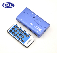 CKL HDMI Switch Switcher 3 In 1 Out With IR Remote Push Button For PS3 PS4