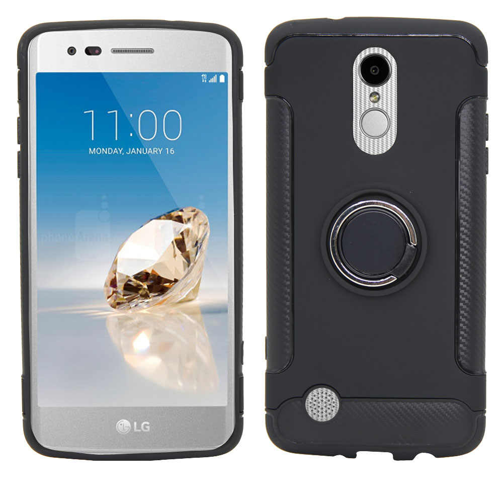 Armor Case Ring Stand Magnetic Cover For LG Aristo 2 3/Plus/Tribute Dynasty Empire/K8 2018/LV3 2018/Fortune 2/Rebel 3/Phoenix 4