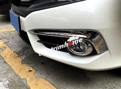 4 * feu antibrouillard avant + garniture de couvercle de paupière anti-brouillard pour Honda Civic 2016 2017